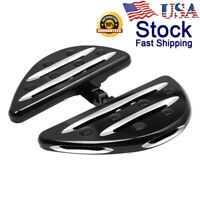 CNC Edge Cut Male Mount Foot Pegs Floorboards For Harley Softail 883 1200 US JH