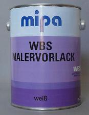 WBS  Mipa Malervorlack 2,5 Liter  Grundierung weiß
