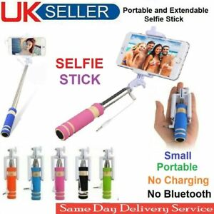 """Selfie Stick Monopod Small Portable Pocket Size Wired Holder for Mobile Phones"""""""