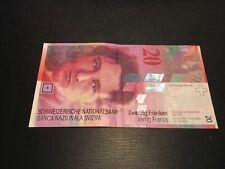 20 Schweizer Franken 8.Serie ab 1995 gültiges Zahlungsmittel