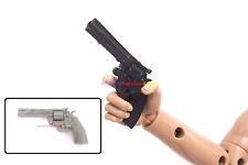 "New 1/6 Scale Colt Python 357 Hand Gun (Black / Grey) For 12"" Action Figure SWAT"