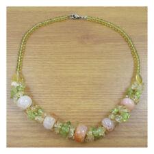 """18"""" Agate Natural Stone Necklace Pentant Gemstone Quartz Boho Yoga Xmas Gift 104"""