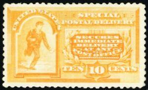E3, Mint VF OG LH 10¢ Special Delivery Stamp Cat $300.00 - Stuart Katz