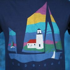 vintage 80s CAPE COD BEACH RAINBOW SUNSET T-Shirt SMALL surf massachusetts thin