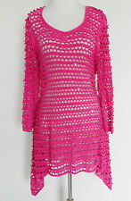 New Linea Domani Dress/Cover Up . Free Style Asymmetrical 3/4 Sleeve  Size L
