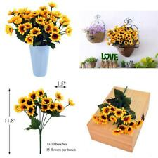Sunflowers Silk Artificial Flowers Floral Decor Bouquet Small Head 10 Bunches,Fo