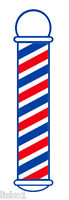 "Barber Shop Window Barber Pole Decal 22"" x 5"" Peal-n-stick #SC-9015"