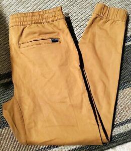 Hollister Advanced Stretch Skinny Jogger Pants Khaki Size Small NWT