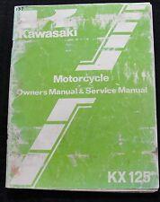 ORIG 1983 KAWASAKI KX125 DIRT BIKE MOTORCYCLE OPERATORS & SERVICE MANUAL GOOD