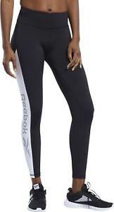 Reebok Workout Ready Logo Womens Long Training Tights - Black