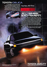 1988 Toyota Celica All-Trac Turbo Coupe Original Advertisement Car Print Ad J507