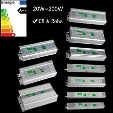 DC12V LED Trafo Transformator Netzteil Driver Wasserdicht IP67 Adapter 20-200W