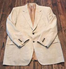 Brioni Neiman Marcus Mens blazer Silk/Cashmere 46R 2-button front blazer tan