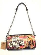 Calico Dragon Love Them Don't ChainThem Dog Pro-Animal  Purse Shoulder Bag Black