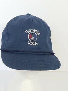Beretta Blue Firearms Ball Cap Hat Military Snapback