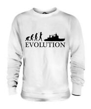 TRAWLER EVOLUTION OF MAN UNISEX SWEATER TOP GIFT FISHERMAN CAPTAIN