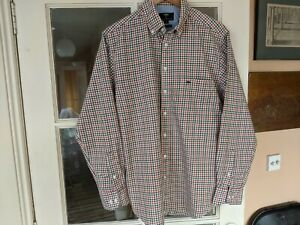 Fynch-Hatton Men's Soft Oxford Checked Shirt. L.