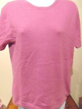 J. Michael's  Women's Pink Cashmere Top  Large