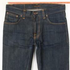 Mens Nudie AVERAGE JOE Straight Leg Blue Jeans W33 L34