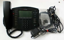 Polycom SoundPoint IP501 SIP w/ LAN/Power Cable, AC Adapter, Stand & More.