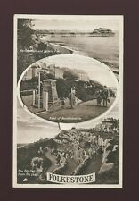 Kent FOLKESTONE Novelty Pocket M/view c1920/30s? PPC