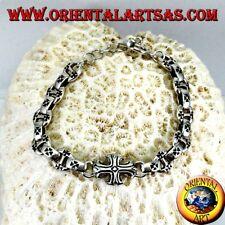 Armreif Starr aus Silber 925‰ Massiv Mit Kreuze