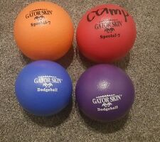 Lot of 4 USED Soft Foam Balls Gator Skin Dodgeball Fun - Junior Size