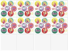 Barbie Stickers - 48 Dots - 8 Sheets - Reward Charts - Birthday Favours - Pink