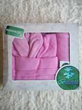 Soft Bamboo Cotton Turkish Shower Bathrobe and Towel Set for 1 Luxury Boxed