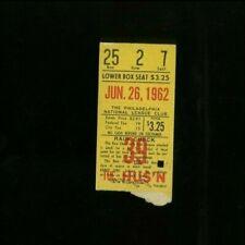 6-26-1962 Houston Colt .45s @ Philadelphia Phillies Ticket - Doubleheader