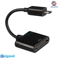 30Pin Hembra Iphone 4 4S a Micro USB Cargador Adaptador de Cable Macho 5Pin Fo Android