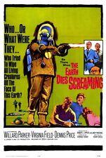 THE EARTH DIES SCREAMING Movie POSTER 27x40 Willard Parker Virginia Field Dennis
