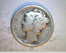 1921 US Mercury Dime,  Circulated ..7234 Oz Silver (US-6347)