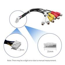 20Pin Plug to 6x 3.5mm RCA Female Car Stereo Adapter Cable Wiring Harness #VIC