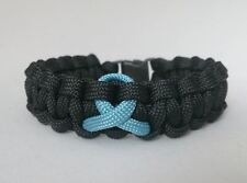 Prostate Cancer Inspired handmade paracord bracelet
