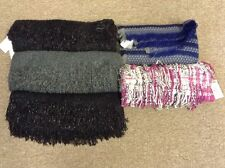 New Lot Of 5 Women s Blanket Scarves Scarf Set Madden Girl Juicy Couture  Black 72cd621f6