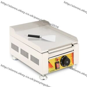 Stainless Steel Commercial Home Electric Countertop Flat Cooking Grill Griddle
