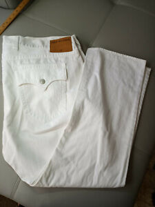 TRUE RELIGION RICKY MENS WHITE RELAXED STRAIGHT JEANS SIZE 50