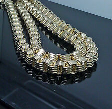 New 10K Yellow Gold Men's Byzantine Chain 24 inch 10MM, Franco, Cuben, Rope, Box