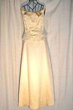 Mori Lee Buttery Yellow Embroidered Formal Evening Dress Size 7/8