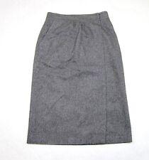 NEW Authentic Gucci Wool/Silk Wrap Skirt, Sz 40, Gray, 272935