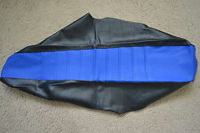 FLU DESIGNS PLEATED  BLACK BLUE  GRIPPER SEAT COVER YAMAHA YZ85  2002-2018