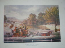 The Mail Coach in a Flood from James Pollard 1827 1901 old colour print