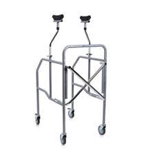 Deambulatore ascellare pieghevole 4 ruote piroettanti con sedile