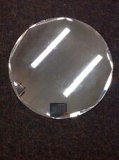 "Vintage 24"" Round Scalloped Beveled Glass Mirror"