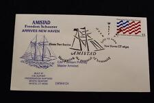 DRW NAVAL COVER #324 FREEDOM SCHOONER AMISTAD ARRIVES NEW HAVEN 2000 FANCY CANC