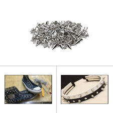 Silver Screwback Spike Cone Studsfor Jean Bags Belts Jackets Leather Craft