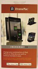 XtremeMac 30-Pin InCharge X3 for iPod/iPhone/iPad 3 Docks, UK and Euro Plug