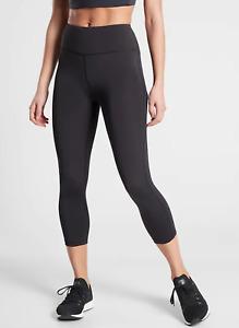 Athleta Ultimate Stash Pocket Capri in Black SIZE L #531264