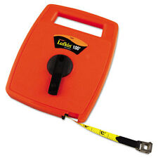 Lufkin Hi-Viz Linear Measuring Tape Measure 1/2in x 100ft Orange Fiberglass Tape